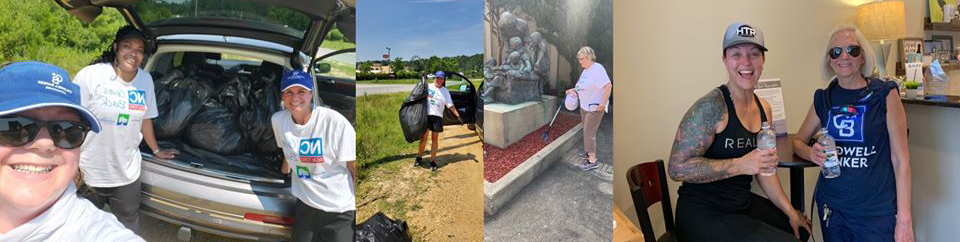 Johnston County REALTORS® during their for their annual JCAR Cleans JOCO event.